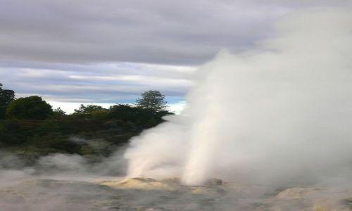 Zdjecie NOWA ZELANDIA / Polnocna Wyspa / Rotorua / Gejzer