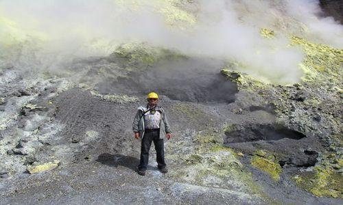 Zdjecie NOWA ZELANDIA / Południowy Pacyfik / White Island - wyspa wulkan / W kraterze White Island