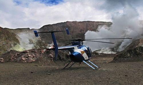 Zdjecie NOWA ZELANDIA / Południowy Pacyfik / White Island - wyspa wulkan / Helikopter - najszybszy sposób na wydostanie się z wulkanu
