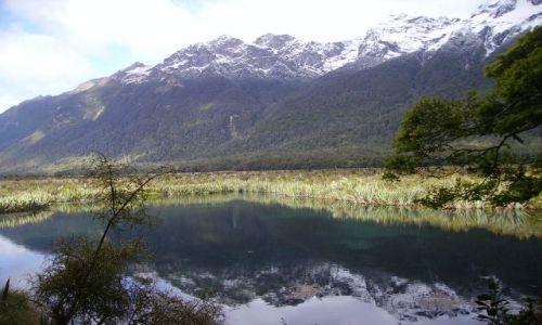 Zdjecie NOWA ZELANDIA / Wyspa Południowa / Miror Lake / lustrane jezioro III