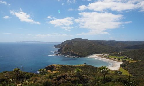 Zdjęcie NOWA ZELANDIA / Far North, Northland / Taputaputa Bay, okolice Cape Reinga / zatoka...