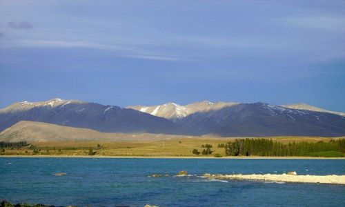 Zdjecie NOWA ZELANDIA / Poludniowa Wyspa / Lake Tekapo / malowane kolorami