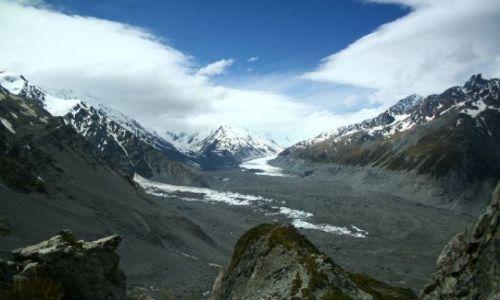 Zdjecie NOWA ZELANDIA / brak / Alpy nowozelandzkie / Morena lodowca
