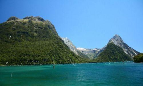 Zdjecie NOWA ZELANDIA / brak / Milford Sound / Mitre Peak - na