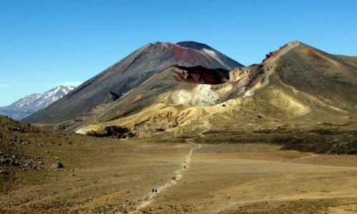 NOWA ZELANDIA / Wyspa północna / Park Narodowy Tongariro / ...nieco pusto...