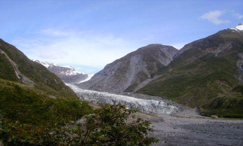 NOWA ZELANDIA / Południowa Wyspa / Fox Glazier / lodowiec Fox Glazier