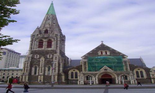 Zdjecie NOWA ZELANDIA / Południowa Wyspa / Christchurch / Christchurch 2009r - zabytkowa katedra