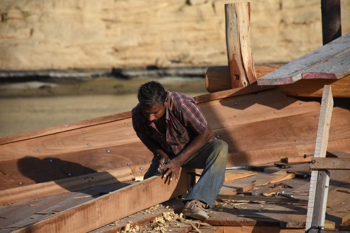 Zdjęcia: Sur, Sur, Budując tradycyjny statek dhow, OMAN