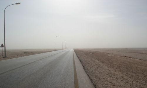 Zdjęcie OMAN / Al Wusta / droga Al-Hayma - Ad Duqm / Burza piaskowa (2)