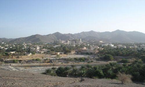 OMAN / Al Dakliyah / Bahla / Panorama miasta Bahla