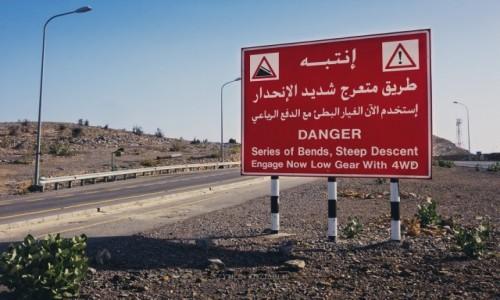 Zdjęcie OMAN / Al Hajar Mountains / Jabal Akhdar / Ostrzeżenie