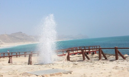 Zdjęcie OMAN / Salalah / Mugshali.  / Morskie gejzery