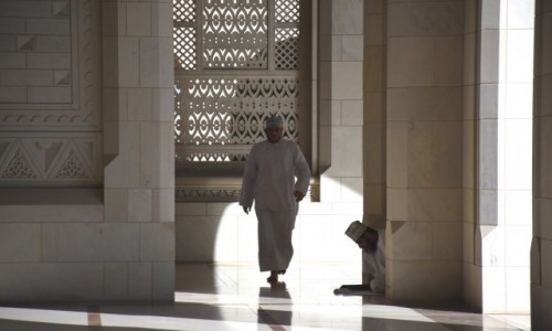 Zdjęcie OMAN / Muscat / Wielki Meczet Sułtana Qaboosa / Czas skupienia