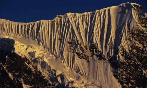 Zdjęcie PAKISTAN / Karakorum / Hispar Glacier / Sunset