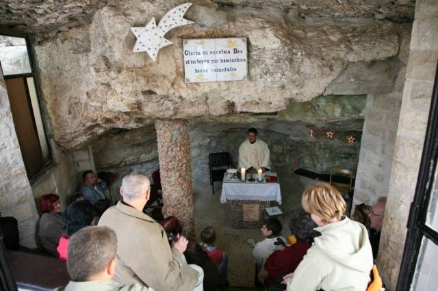 Zdjęcia: Betlejem, Jerozolima, Betlejemskie groty - nabożeństwo, PALESTYNA