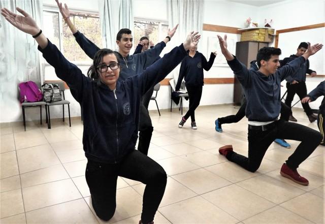 Zdjęcia: Pole Pasterzy, Betlejem, Dzisiaj w Betlejem - próba tańca depka, PALESTYNA