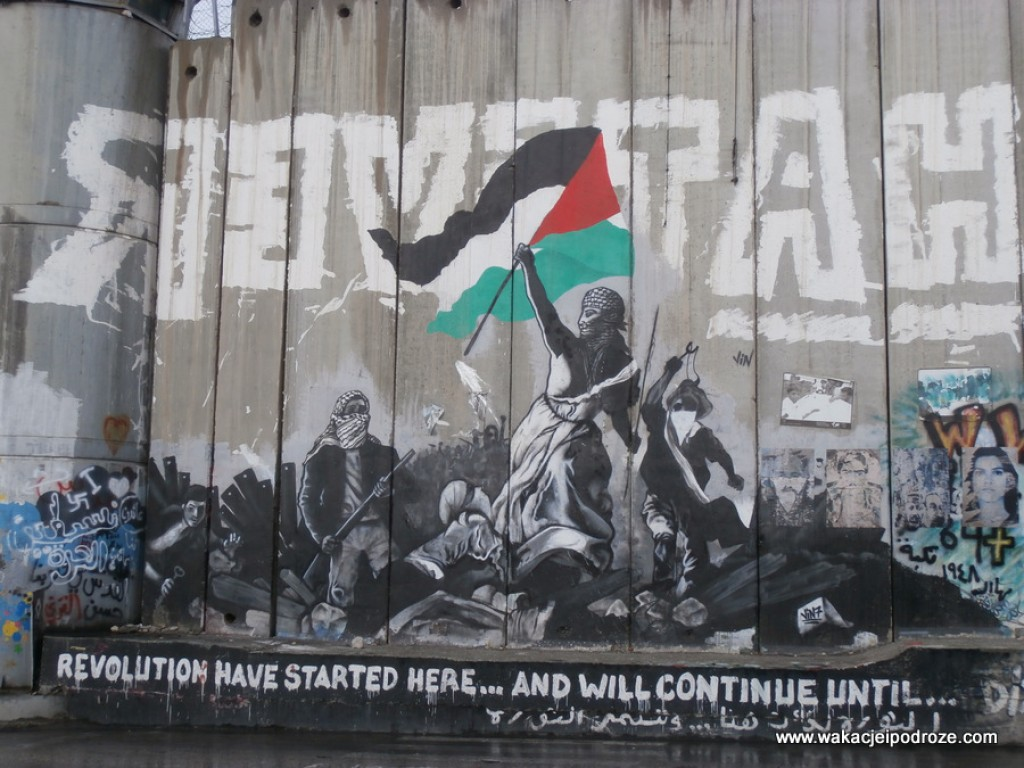 Zdjęcia: Betlejem, Mur oddzielający Palestynę, PALESTYNA