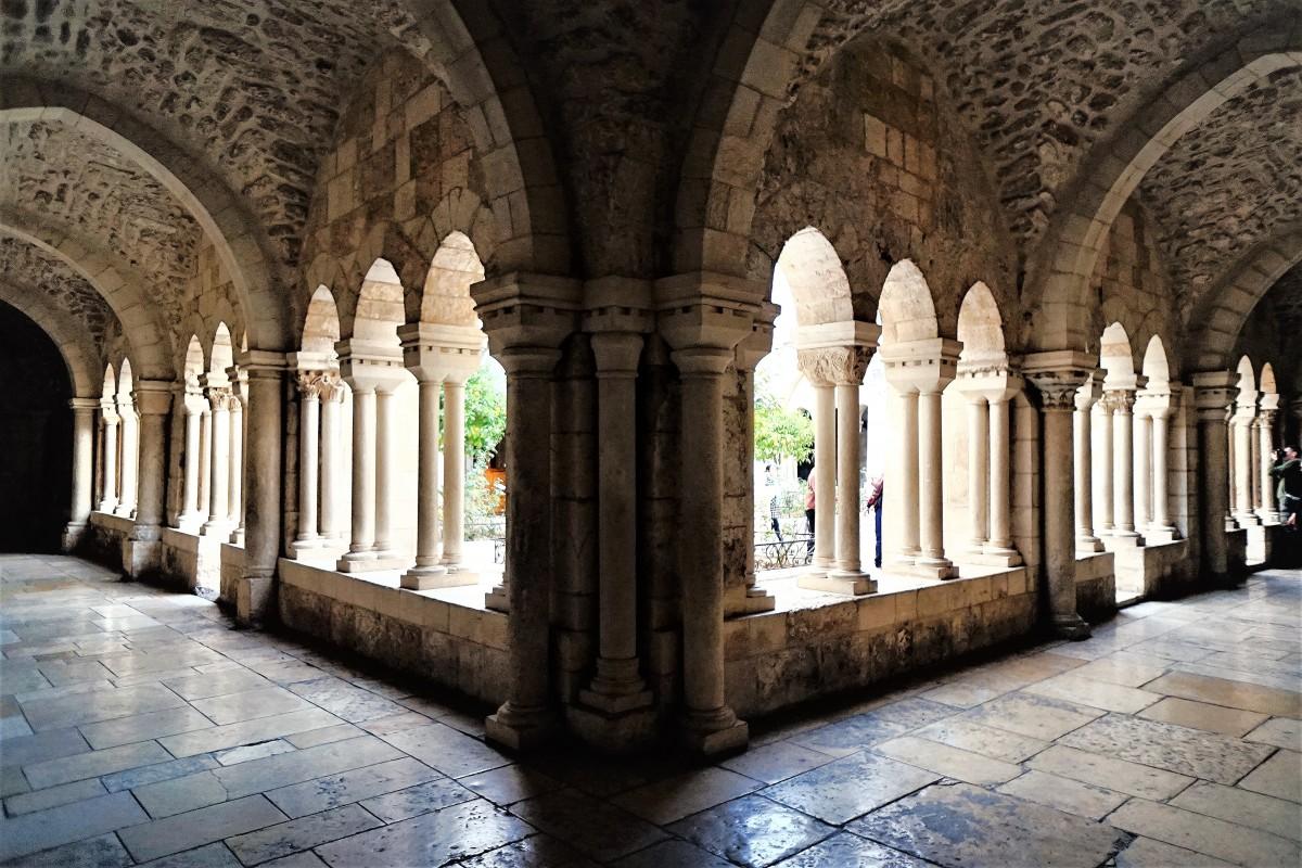 Zdjęcia: Kościół św. Katarzyny, Betlejem, Korytarz wokół dziedzińca, PALESTYNA