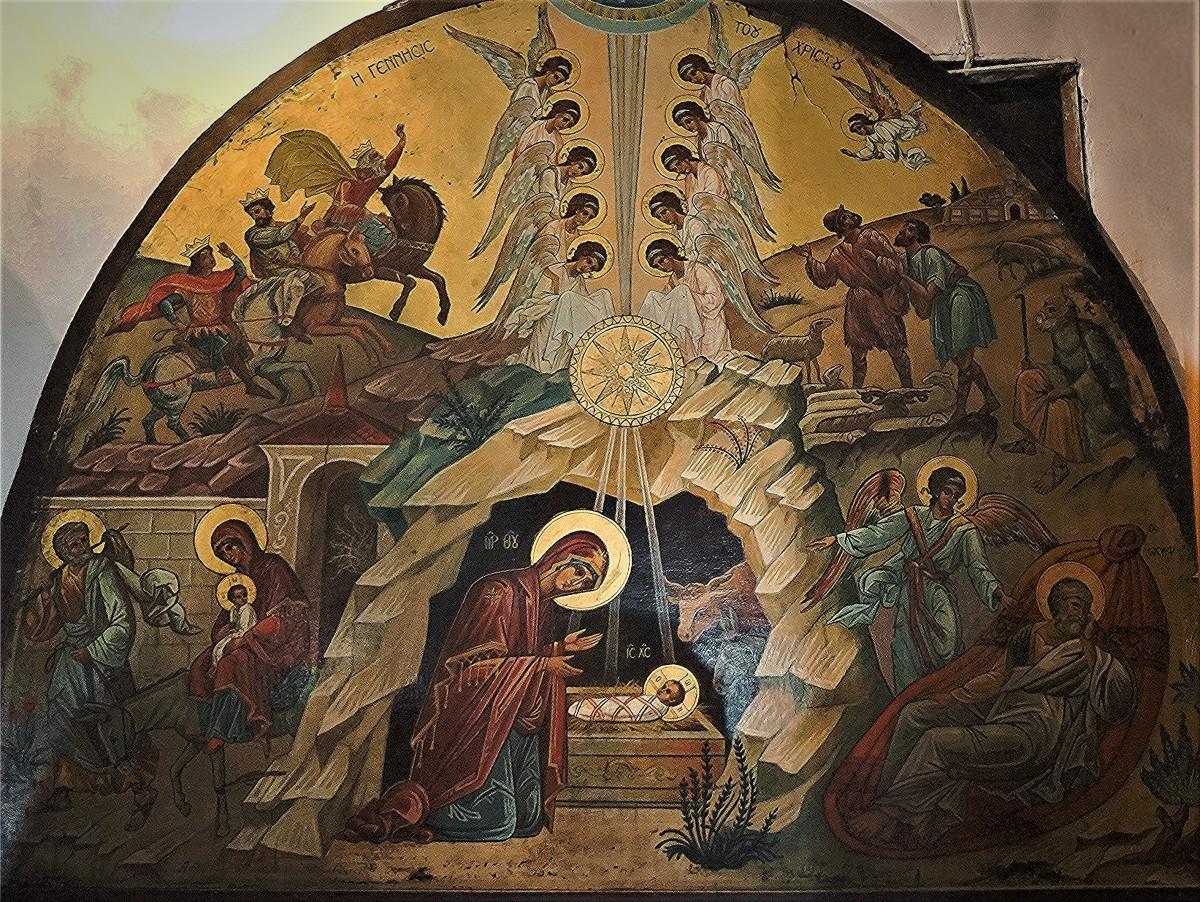 Zdjęcia: Obraz przed Grotą Narodzenia, Betlejem, Adoracja, PALESTYNA