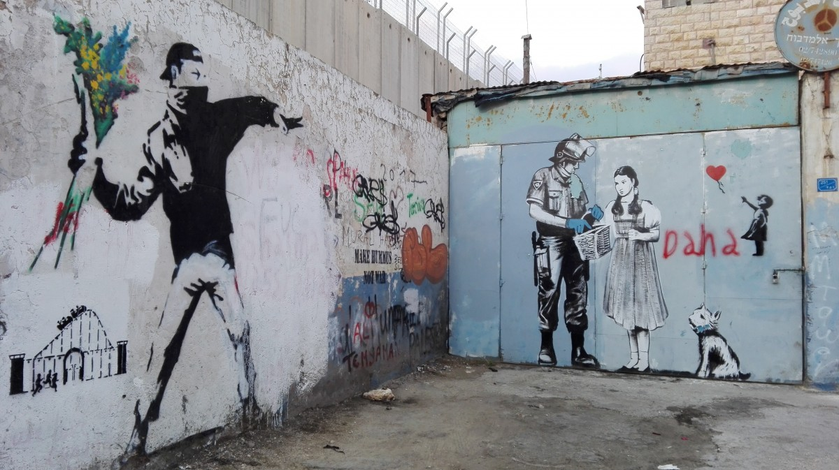 Zdjęcia: Betlejem, Zachodnia część Judei, Mural, PALESTYNA