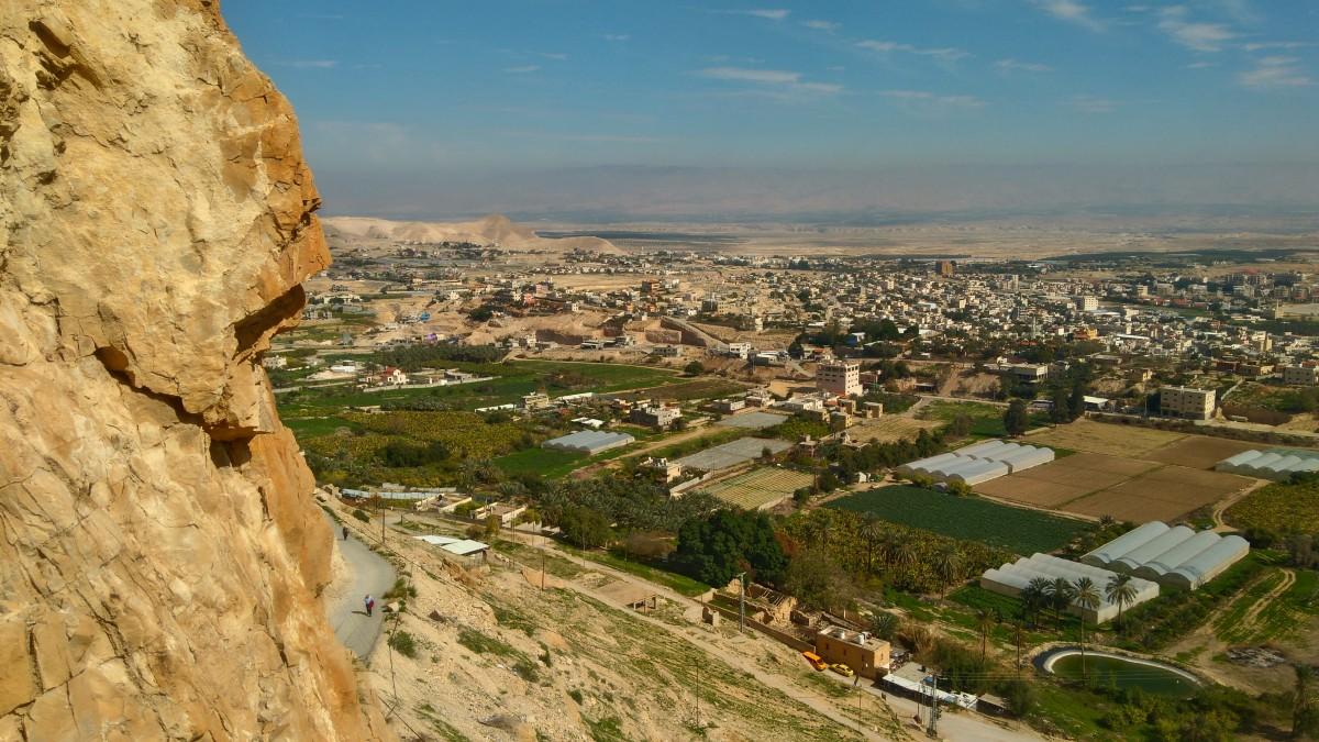 Zdjęcia: Jerycho, Jerycho , widok na Jerycho z góry kuszenia, PALESTYNA