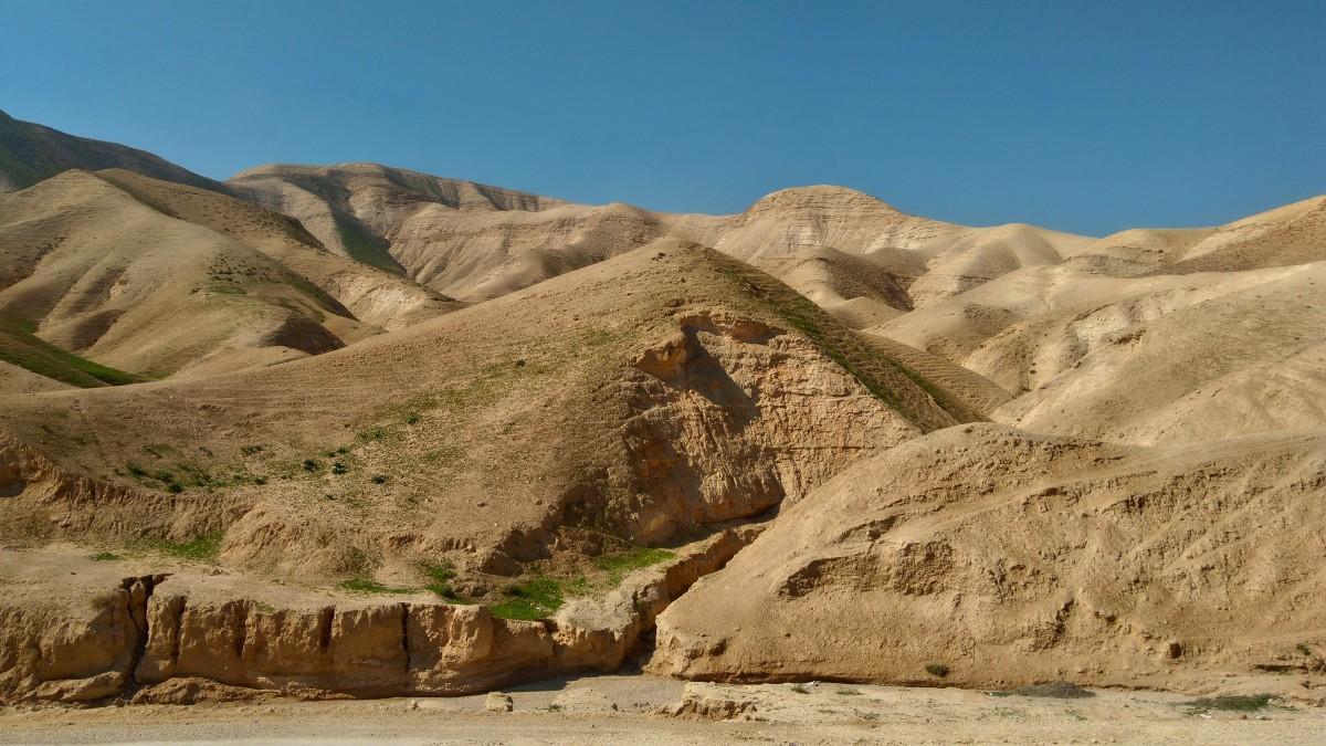 Zdjęcia: w drodze poniżej poziomu morza, Palestyna , Góry pustyni, PALESTYNA