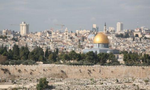 Zdjęcie PALESTYNA / Jerozolima / Góra Oliwna / Panorama Jerozolimy