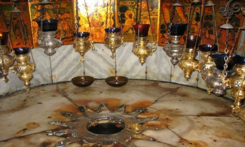 Zdjęcie PALESTYNA / Betlejem / Bazylika Narodzenia Pańskiego / Miejsce Narodzenia Pana