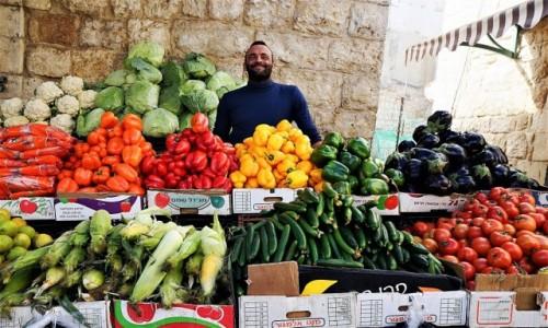 Zdjęcie PALESTYNA / Betlejem /  Suk / Sprzedawca warzyw
