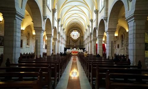 PALESTYNA / Betlejem / . / Kościół św. Katarzyny, nawa główna