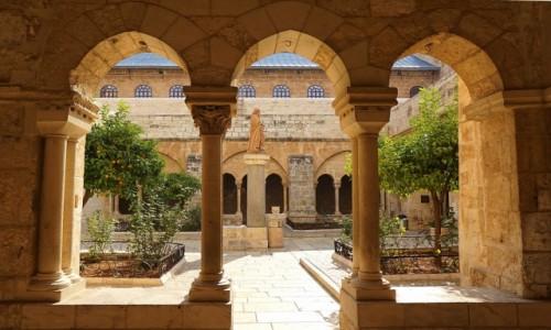 Zdjęcie PALESTYNA / Betlejem / .Kościół św. Katarzyny / Dziedziniec
