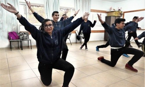 PALESTYNA / Betlejem / Pole Pasterzy / Dzisiaj w Betlejem - próba tańca depka
