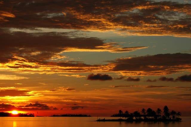 Zdjęcia: San Blas, Zachod Slonca Na Wyspach, PANAMA