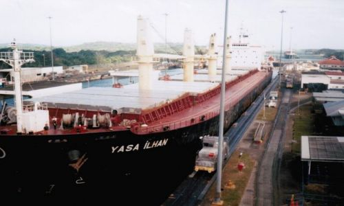 PANAMA / Strefa kanału / Gatun / Śluza Gatun