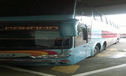 Zdjecie PANAMA / - / Dworzec kierunek Kostaryka / Autobus