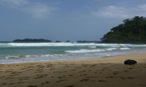 Zdjecie PANAMA / Bocas del Toro / Isla Bastimentos / nuda na Karaibach...