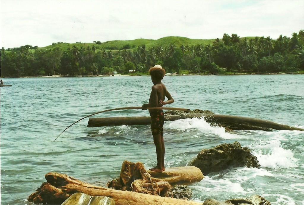 Zdjęcia: Mandy Bay, Wschodnia PNG, Wędkarz, PAPUA NOWA GWINEA