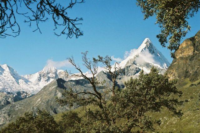 Zdjęcia: Cordillera Blanca, Dolina Santa Cruz, Widok na Artesonaju z bazy pod Alpamayo, PERU