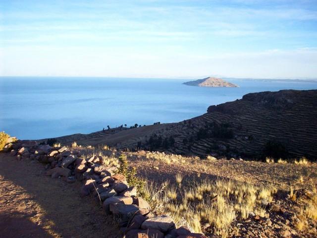 Zdjęcia: Wyspa Amantani, Jezioro Titicaca, Widok na jezioro Titicaca, PERU