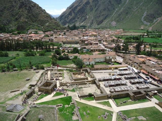 Zdjęcia: Ollantaytambo, Cuzco, Panorama Ollantaytambo, PERU