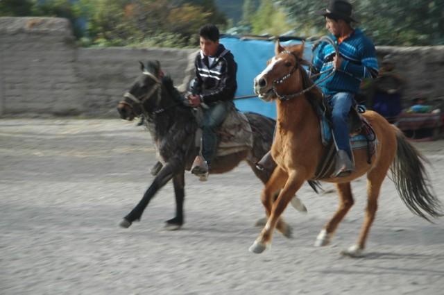 Zdjęcia: Cahuana, Arequipa, Zawody konne podczas uroczystości, PERU
