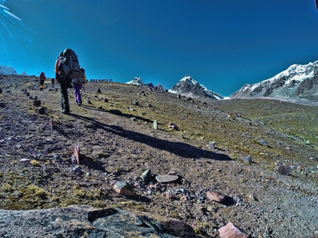 Zdjęcia: Cordillera Vilcanota, Cusco, Trekking w kierunku lodowca , PERU