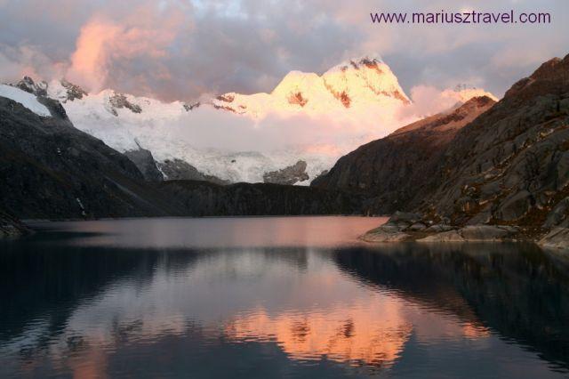 Zdjęcia: cordllera blanca, zachod w peruwianskich gorach, PERU