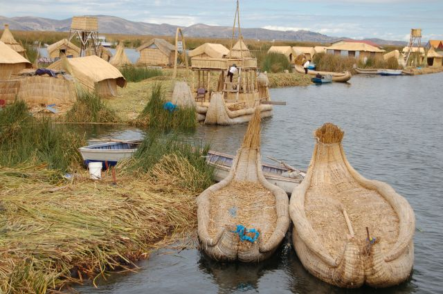 Zdj�cia: Pune - Jezioro Titicaca, P�ywaj�ce wyspy, PERU