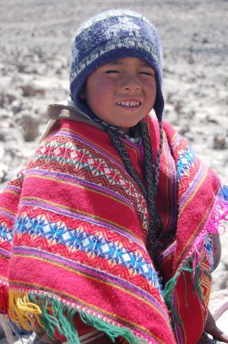 Zdj�cia: Okolice Cusco - Saliny, Ma�y peruwia�czyk, PERU