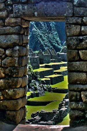 Zdjęcia: Machu Picchu, Cusco, Widok na plac centralny w Machu Picchu, PERU