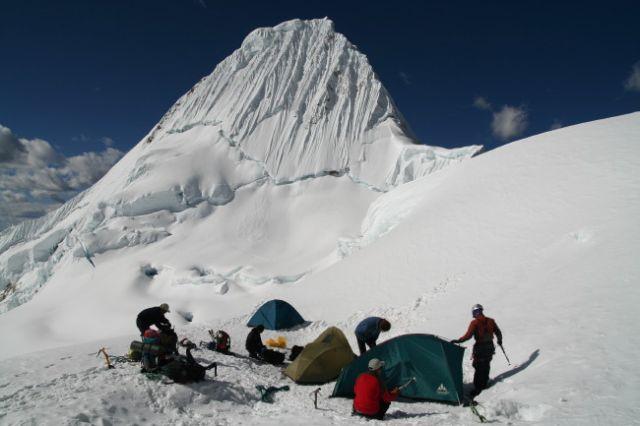 Zdj�cia: Cordillera Blanca, ob�z pod Alpamayo, PERU