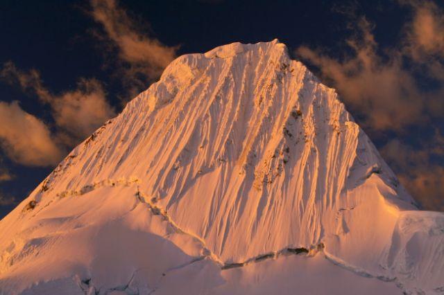 Zdjęcia: Cordillera Blanca, na deser Alpamayo o zachodzie słońca, PERU