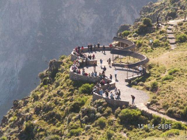 Zdj�cia: Cruz del Condor, Taras widokowy godzina 8 czekamy na kondory, PERU