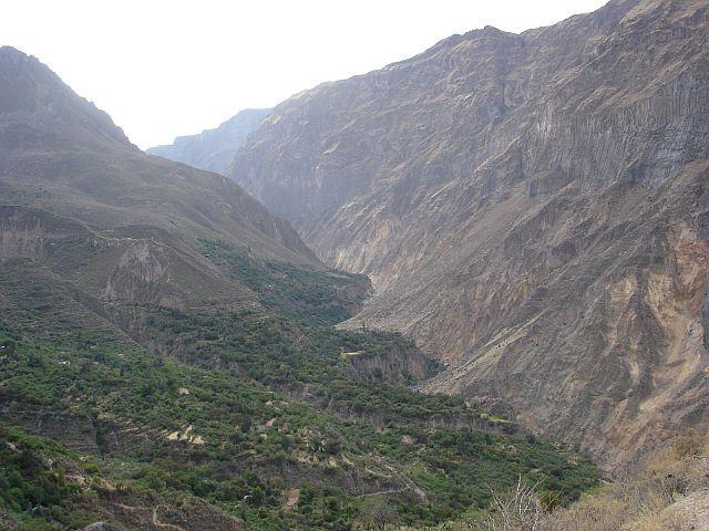 Zdjęcia: Canion Colca, fragment CANIONU, PERU